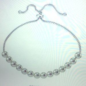 Sterling silver adjustable bolo bracelet